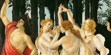 Primavera Detail of the Three Graces and Mercury von Sandro-Botticelli