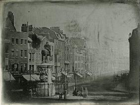Whitehall and the statue of King Charles I (1600-49), London, c.1852 (b/w photo)