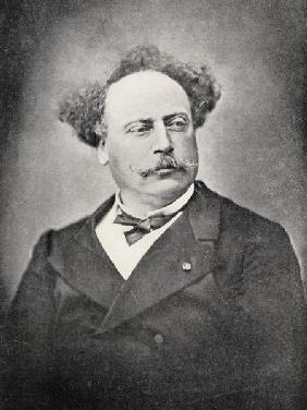 Alexandre Dumas Fils (1824-95) (b/w photo)