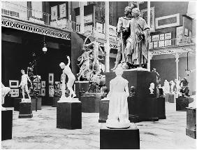Belgian Fine Arts at the Universal Exhibition, Paris, 1889, (b/w photo)