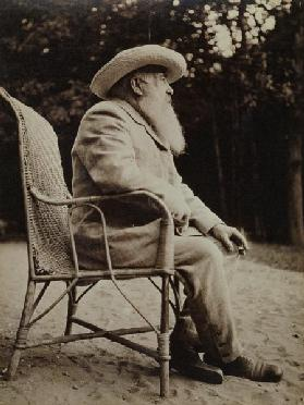 Claude Monet (1840-1926) (b/w photo)