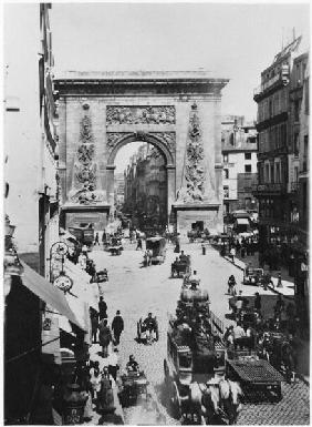 Porte Saint-Denis, Paris, c.1880 (b/w photo)