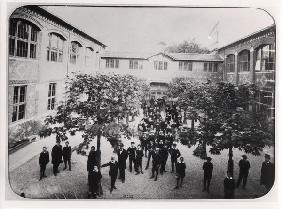 School in Alsace, 1883-89 (b/w photo)