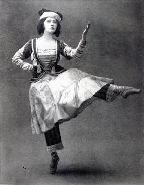 Tamara Karsavina in the ballet ''Petrouchka'', 1911 (b/w photo)
