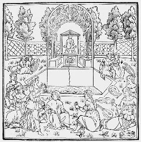 A Scene from the Decameron, by Giovanni Boccaccio