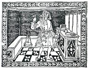 Money Changer, illustration from ''Libro di Givocho di Scacchi'' Jacobus de Cessolis
