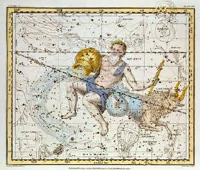 Aquarius and Capricorn, from 'A Celestial Atlas', pub. in 1822 (coloured engraving) 1822