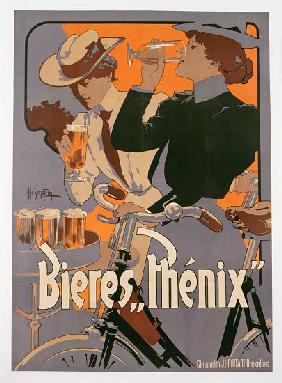 Poster advertising Phenix beer c.1899