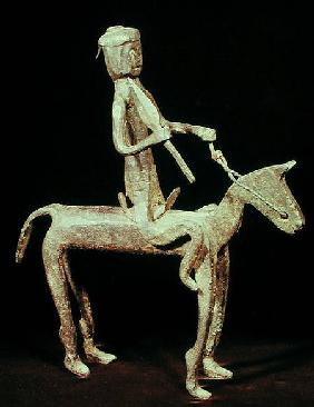 A Bambara soldier on horseback, from Mali