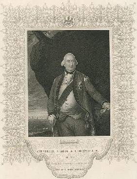 Charles Cornwallis, from ''Gallery of Historical Portraits'', published c.1880