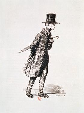 The Employee, from ''Les Francais peints par eux-memes''; engraved by Guillaumot, Paris, c.1850