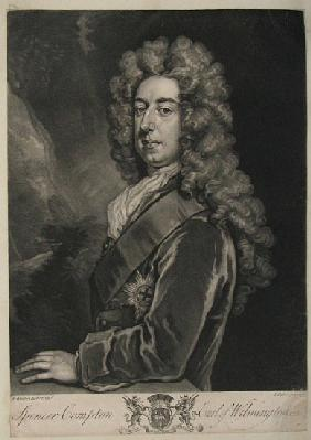 Spencer Compton, Earl of Wilmington, print John Faber