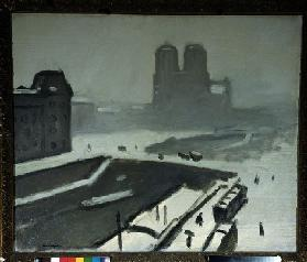 Notre Dame im Winter (Schnee, Winter) 1908