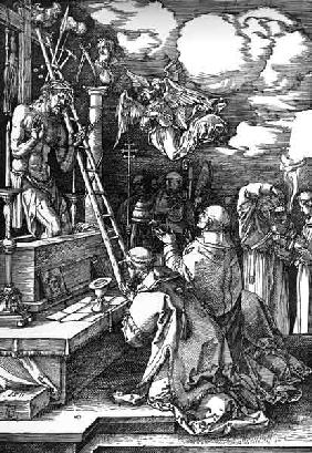 Dürer / Mass of St Georg / Woodcut 1511