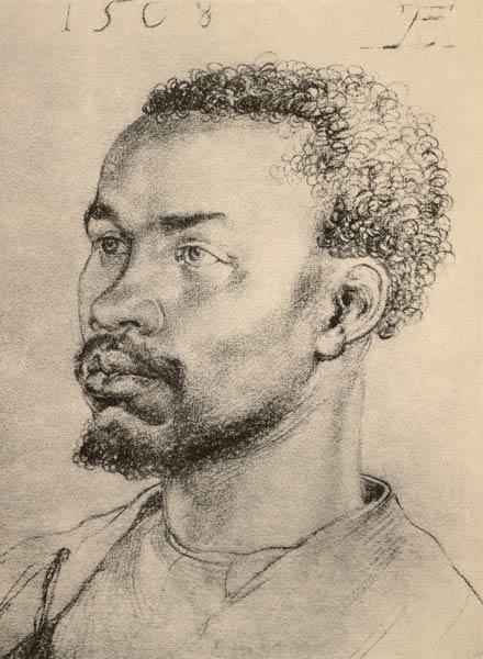 A.Dürer, Head of a Negro / Draw./ 1508