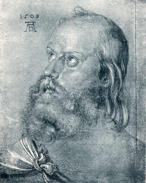 Albrecht Dürer / Head of an apostle