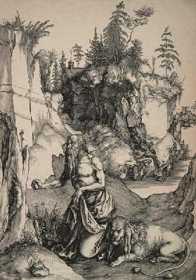 St Hieronymus in the wilderness / Dürer