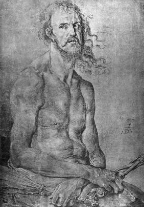 Seated Man of Sorrows / Dürer / 1522