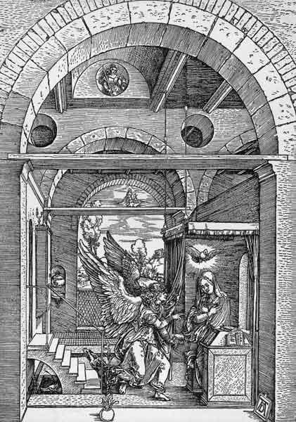Dürer, The Annunciation /Woodcut/c.1503