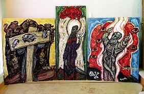 Jeremiah, Isaiah and Ezekiel, from ''The Books of Prophets'', 1995 (mixed media on panel)