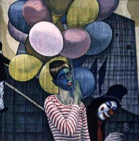 The Carnival, or The Lesbians, 1980 (oil and tempera on canvas)