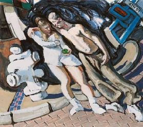 Adam and Eve, South of Market, 1994 (mixed media on linen)  1994