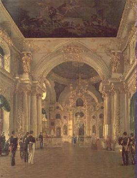 Interior of the Great Church in the Winter Palace 1829