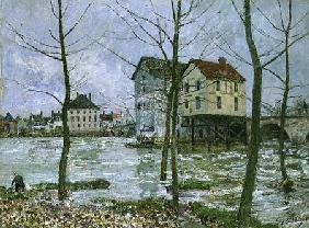 The Mills at Moret-sur-Loing, Winter 1890