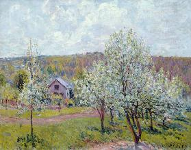 Spring in the Environs of Paris, Apple Blossom 1879