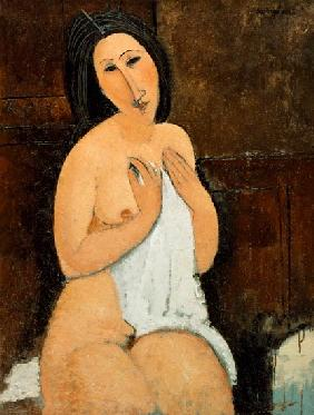 Seated Nude with a Shirt 1917