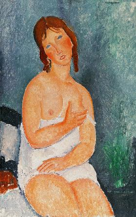 Young Woman in a Shirt, or The Little Milkmaid 1917-18