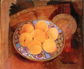 Nectarines and Angel, 1999 (oil on board)