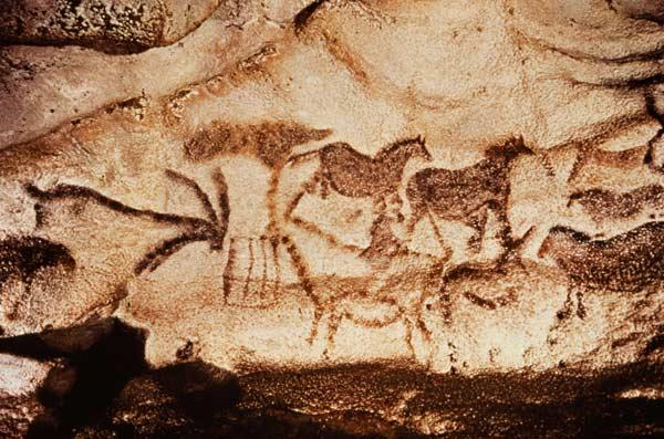 Cave painting of horses and deer c.15000 BC