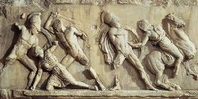 The Battle of the Greeks and the Amazonspart of the frieze from the Mausoleum of Halicarnassus c.350 BC