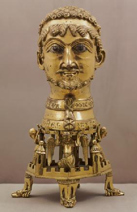 Reliquary bust of Frederick I (c.1123-1190), German,made in Aachen 1155-71