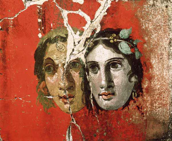 Wall painting of a couplePompeii 1st centur
