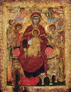 Madonna and Child enthroned with Saints early 18th