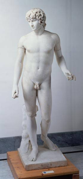 Male nude possibly Antinous 130-138 AD