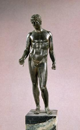 Statue of Mercury, adaptation of the Greek Discophoros of Polyclitus, Roman 25-50 AD