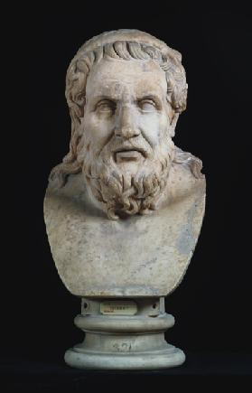 Portrait bust possibly of either Hesiod (8th century BC) or Homer (8th century BC) copy of Gr
