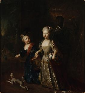 Crown Prince Frederick II with his sister Wilhelmine