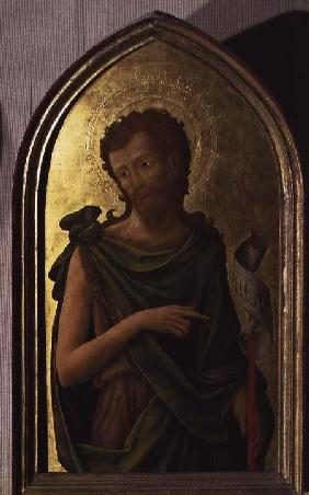 St. John the Baptist, panel from a polyptych removed from the church of St. Francesco in Padua 1451