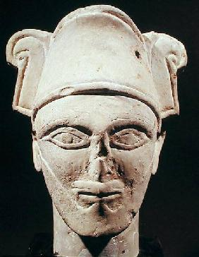 Head of a Semite chief with Egyptian influence, from Amman