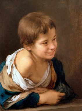 A Peasant Boy Leaning on a Sill 1670-80