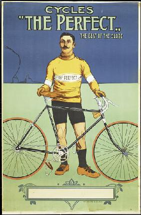 Poster advertising 'The Perfect' bicycle 1895