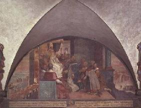 St. Antoninus Presents Himself to Pope Eugenius III as an Ambassador, lunette