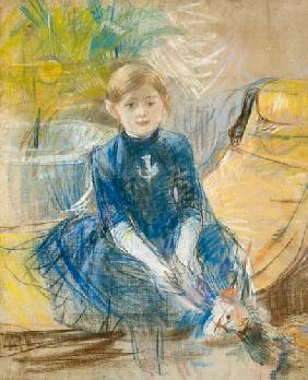 Little Girl with a Blue Jersey 1886