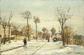 Snowy Road, Louveciennes