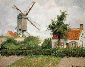 Windmühle in Knocke (Belgien) 1894