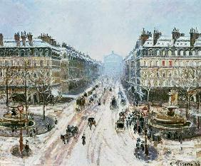 Avenue de l'Opera - Effect of Snow 1898